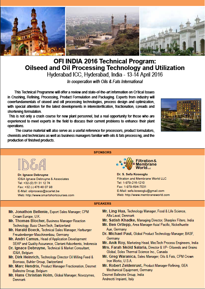 OFI India 2016 Technical Programme